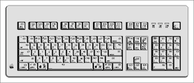 Thumbnail of Peter Hosey's keyboard map