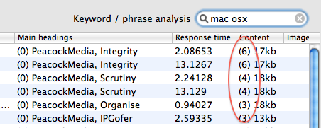 Improved SEO keyword analysis in Scrutiny v3